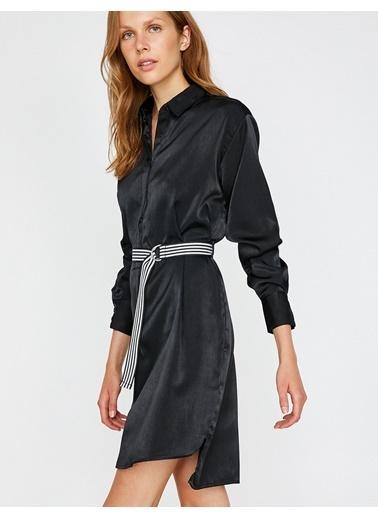 Koton Gömlek Elbise Siyah